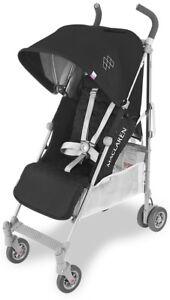Maclaren Baby Quest Lightweight Umbrella Fold Stroller Black/Silver NEW 2018