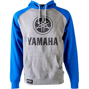Factory Effex 2020 Yamaha Icon Hoodie Blue/Gray All Sizes