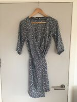 Tommy Hilfiger Runway collection 100% silk printed wrap dress size UK 6. BNWT