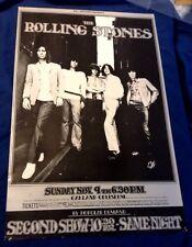 1969 Rolling Stones BG-201 Original Bill Graham Concert Poster, 2nd Printing