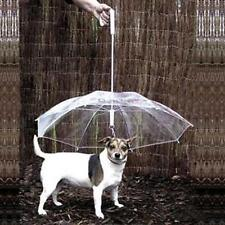 New Dog Pet Puppy Cat Umbrella PVC Transparent Play Dry Comfortable In Rain Snow