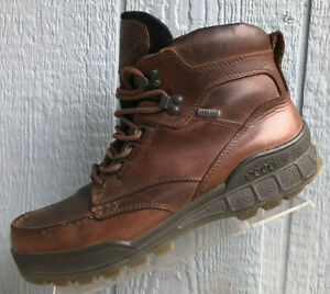 Ecco Track GTX Brown Leather Ankle Boots Mens Size EU 43  US 9-9.5