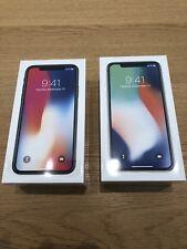 2 NEW Apple iPhone X 10 - 256GB - SPACE GREY & SILVER FACTORY WORLDWIDE UNLOCKED