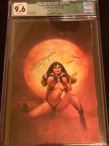 """Vampirella: Trial of the Soul, Black Flag Comics Edition """"A"""", CGC 9.8, Signed wi"""