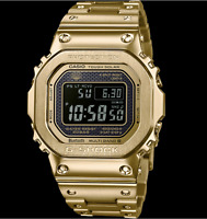 Authentic Men's G-Shock Casio Digital Stainless Steel Gold Watch GMWB5000GD-9