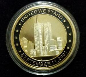 World Trade Center, Gold Plated Coin, September 11, Memory Token 9/11
