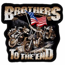 """Brothers to the End Patch (714) 5"""" x 4 3/4"""" Embroidered Patch 67605"""