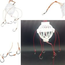 6 in 1 Lantern Bait Case Barbed  Plastic Fishing Tackle Fishing Hook