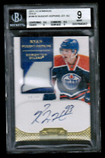 2011-12 Dominion Gold #188 Ryan Nugent-Hopkins RPA Rookie Patch Auto #/25 BGS 9