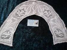RARE Antique 1918 MARY CARD Design Filet Hand Crochet  Daffodil Collar