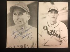 Vance Dinges Philadelphia Phillies Signed  Postcard 1940s JSA Pre-authenticated
