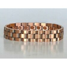 8.25  IN COPPER MAGNETIC BRACELET UNIQUE DESIGN WITH MAGNET EVERY LINK NEW 6461