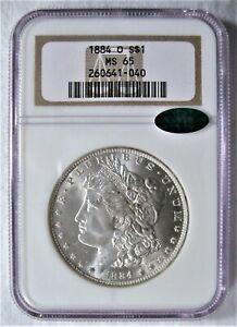 1884-O Morgan Silver Dollar NGC MS-65 CAC