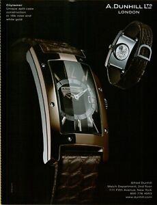2006 A Dunhill LTD London Citytamer Tank Split Case Watch Photo Vintage Print Ad