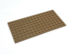 4624163 LEGO® Grundplatte Platte 8 x 16 Dunkelbeige 1 Stück Neu