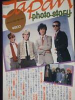 Japan Photo Story book photo David Sylvian Mick Karn Steve Jansen Richard