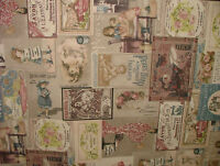 Vintage Pears Soap Savon Cotton Fabric Curtain Upholstery Quilting Crafts Blinds