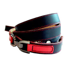 Cool Leather Dog Leash Black and Red