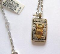 Brighton Nature's Wisdom Owl Necklace- silver & gold -Slow down & Enjoy Life