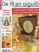 De fil en aiguille N°40 point croix Noël Cartes Ours