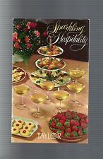 Collectible Vintage 1961 Sparkling Hospitality, Taylor Ny Wine Recipe Booklet
