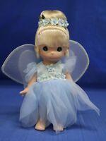 "Tinker Bell's Garden Party Blue Dress 9"" Doll Precious Moments 3454 Disney Parks"