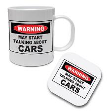 TALKING ABOUT CARS - Vehicles / Vans / Fun / Gift Idea Ceramic Mug & Coaster Set