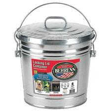Behrens 6106 6 Gallon Galvanized Garbage Trash Storage Can Locking Lid 6465751