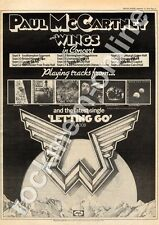 Paul McCartney & Wings Letting Go R6008 MM5 '45/Tour Advert 1975