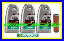 Kit Tagliando KTM SMT 990 09>12 SuperMoto Filtro Olio MOTOREX Cross Power 10W/50