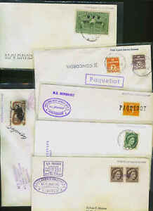 COLLECTION 1950's POSTAL HISTORY 6 PAQUBOTS COVERS