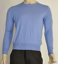 Nwt $145 Ralph Lauren POLO Cotton/Cashmere Crew Sweater Pullover Top ~Blue *S