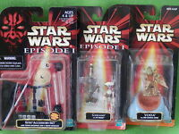 STAR WARS EPISODE 1 ACTION FIGURES MOC MANY TO CHOOSE FROM