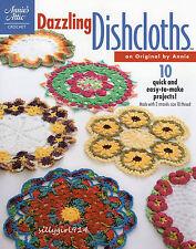 """DAZZLING DISHCLOTHS""~Annie's Thread Crochet PATTERN BOOK~10 Design~SEE PICS~NEW"