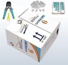1000' Ft CAT6 23 AWG UTP LAN Network Cable + Network Tool Kit Crimper Tester End