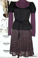 NOA NOA camiseta blusa negro Miss Spitalfields BLACK algodón S 36 NUEVO