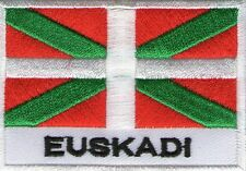 écusson ECUSSON PATCH THERMOCOLLANT DRAPEAU PAYS BASQUE EUSKADI 7 X 5 CMS