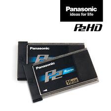 2x Panasonic card aj-p2c016rg | à 16 gb p2-memoria-mapa = 32gb | IVA. - RNG.