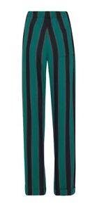 Wales Bonner Black/Emerald/Ochre Cotton-Blend Pyjama Trousers. UK Waist 34. NWT.