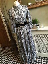 ZARA Long Maxi Snake Animal Print Dress Shirt Style SMALL BNWT
