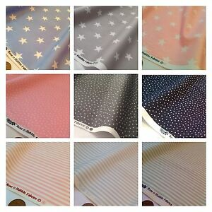 Stars & Stripes 100% Cotton Fabric, Sewing, Star Stripe Metre, ROSE & HUBBLE