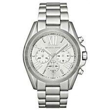Michael Kors MK5535 Bradshaw Chronograph Stainless Steel Silver Dial 43mm Watch