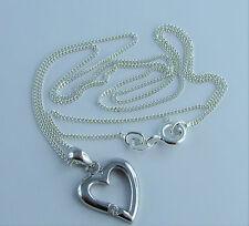 Echtschmuck-Halsketten mit Herz-Zirkon