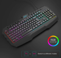 Gaming Keyboard And Mouse Combo RGB Backlit Wired with Multimedia Keys 3200 DPI