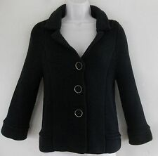 Banana Republic Sweater jacket XS Thick Pure cotton Black Flare Cardigan Buttons