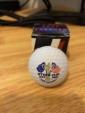 2001 Ryder Cup Golf Ball w/ Box