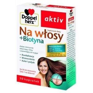 DOPPELHERZ AKTIV For hair+Biotin /DOPPELHERZ AKTIV Na włosy+Biotyna - 30kaps
