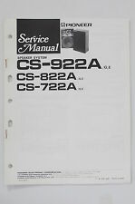 Pioneer cs-922a/822a/722a Speaker System service-manual/Manuel/schéma de branchement o68