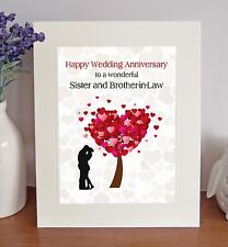 Sister & Brother-in-Law Wedding Anniversary Gift Free-Standing Picture Mount