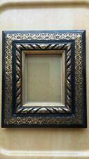cadre noir et dore napoleon 3 a poser ou suspendre pour photo en bon etat